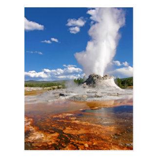 Parque nacional de Yellowstone de la erupción del  Postal