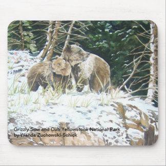 Parque nacional de Yellowstone del andCub de la ce Alfombrillas De Ratón