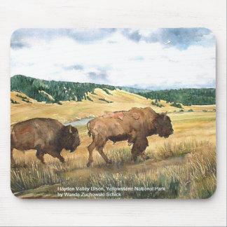 Parque nacional de Yellowstone del bisonte del val Alfombrilla De Raton