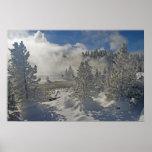 Parque nacional de Yellowstone del lavabo del géis Posters