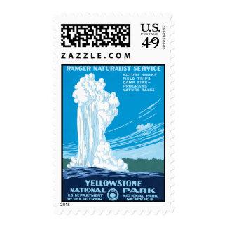 Parque nacional de Yellowstone del servicio del gu Franqueo