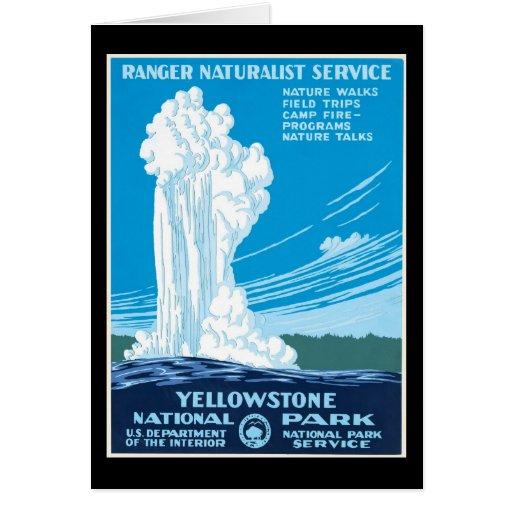 Parque nacional de Yellowstone del servicio del gu Felicitación