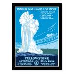 Parque nacional de Yellowstone del servicio del gu Postales