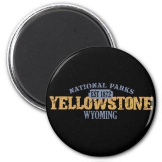 Parque nacional de Yellowstone en parque nacional Imán Redondo 5 Cm