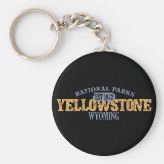 Parque nacional de Yellowstone en parque nacional Llavero Personalizado