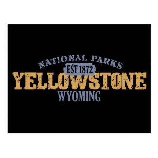 Parque nacional de Yellowstone en parque nacional Postales