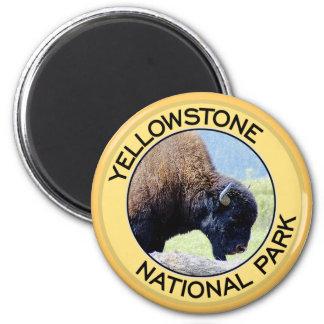 Parque nacional de Yellowstone Imán Redondo 5 Cm