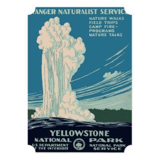"""Parque nacional de Yellowstone Invitación 5"""" X 7"""""""