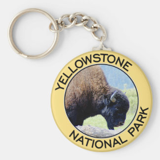 Parque nacional de Yellowstone Llavero Redondo Tipo Pin