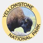Parque nacional de Yellowstone Pegatina Redonda