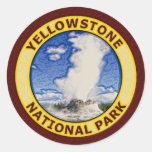 Parque nacional de Yellowstone Pegatinas Redondas