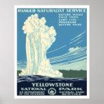 Parque nacional de Yellowstone Poster