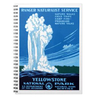 Parque nacional de Yellowstone Spiral Notebooks