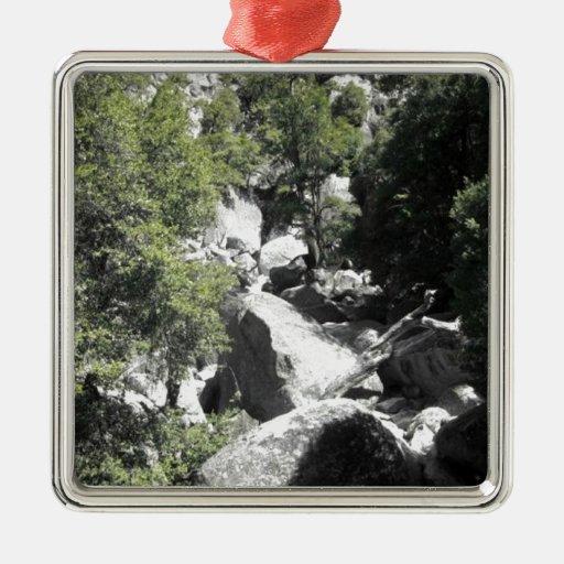 Parque nacional de Yosemite (a) Adorno Cuadrado Plateado