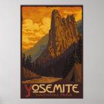 Parque nacional de Yosemite, CA - poster de la roc