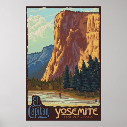 Parque nacional de Yosemite, CA - poster del EL Ca
