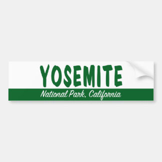 Parque nacional de Yosemite Pegatina De Parachoque