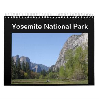 Parque nacional de Yosemite Calendario
