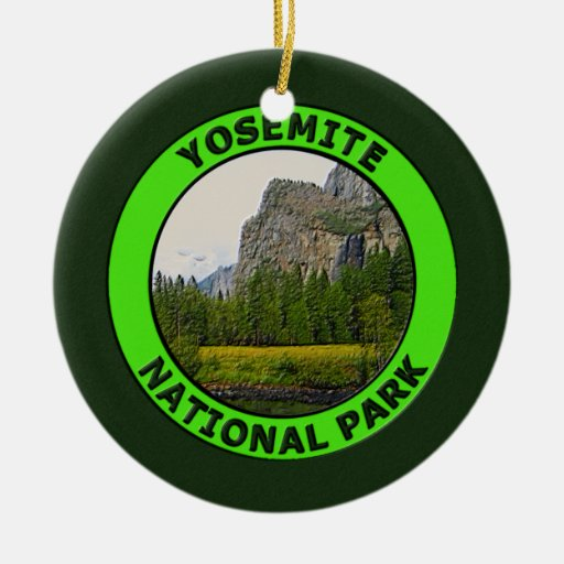Parque nacional de Yosemite, California Adorno Redondo De Cerámica