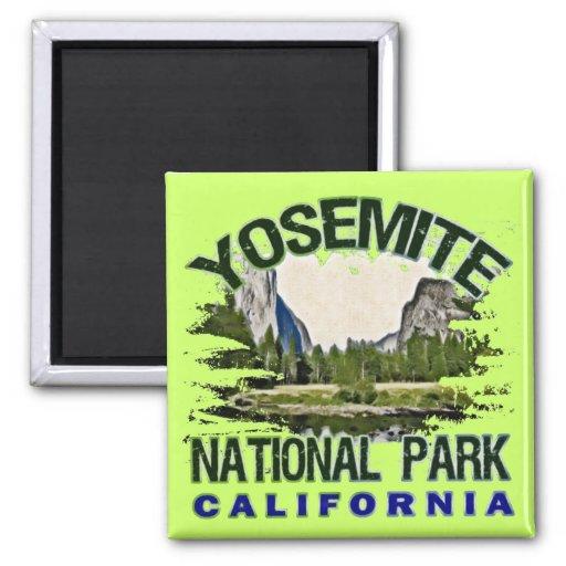 Parque nacional de Yosemite, California Imán Cuadrado