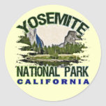 Parque nacional de Yosemite, California Pegatina Redonda