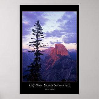 Parque nacional de Yosemite de la media bóveda Póster