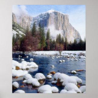 Parque nacional de Yosemite del invierno Impresiones