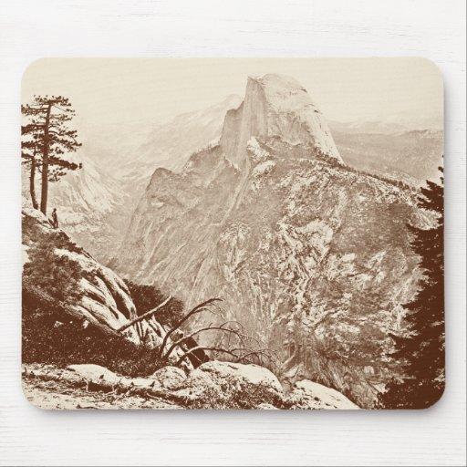 Parque nacional de Yosemite del vintage Alfombrilla De Raton