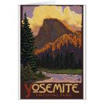 Parque nacional de Yosemite - media bóveda - vinta Tarjetón
