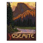 Parque nacional de Yosemite - medio poster del Postal