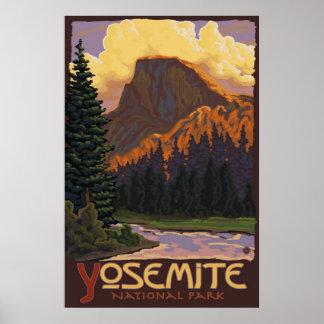 Parque nacional de Yosemite - medio poster del via Póster