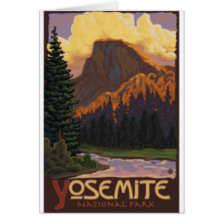 Parque nacional de Yosemite - medio poster del via Felicitacion