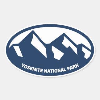 Parque nacional de Yosemite Calcomanía De Óval