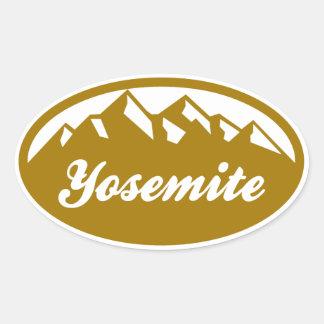 Parque nacional de Yosemite Calcomania De Oval Personalizadas