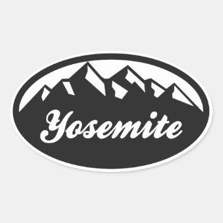 Parque nacional de Yosemite Pegatina Ovalada