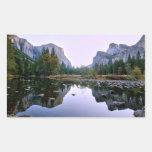 Parque nacional de Yosemite Pegatina Rectangular
