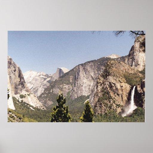 Parque nacional de Yosemite Poster