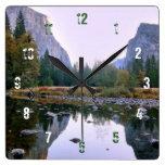 Parque nacional de Yosemite Reloj Cuadrado