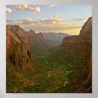 Parque nacional de Zion - aterrizaje de los ángele Póster