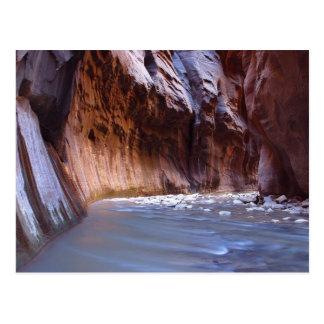 Parque nacional de Zion de los estrechos Tarjeta Postal