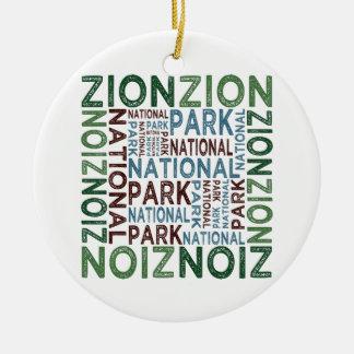 Parque nacional de Zion Adorno Redondo De Cerámica