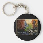 Parque nacional de Zion Llavero Personalizado