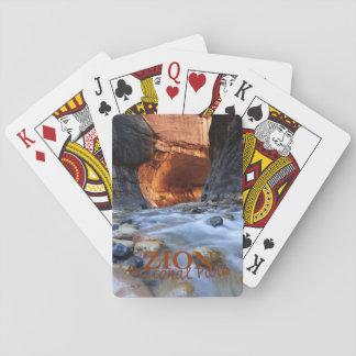 Parque nacional de Zion, los estrechos, naipes