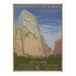 Parque nacional de Zion Springdale 1938 Utah Postal