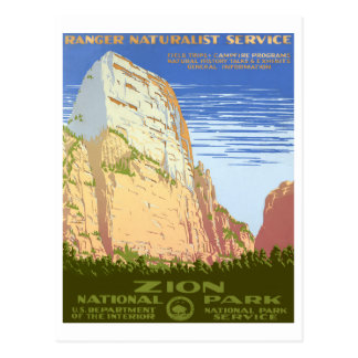 Parque nacional de Zion Tarjeta Postal