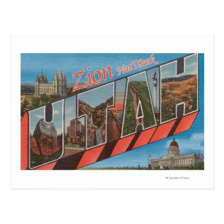 Parque nacional de Zion, Utah - escenas grandes de Postales