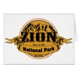 Parque nacional de Zion, Utah Felicitaciones