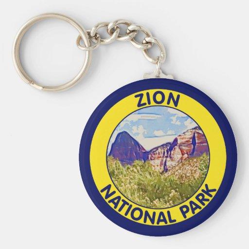 Parque nacional de Zion, Utah Llaveros Personalizados