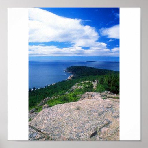 Parque nacional del Acadia de la montaña de Gorham Posters
