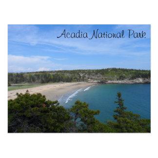 Parque nacional del Acadia de la playa de la arena Tarjeta Postal